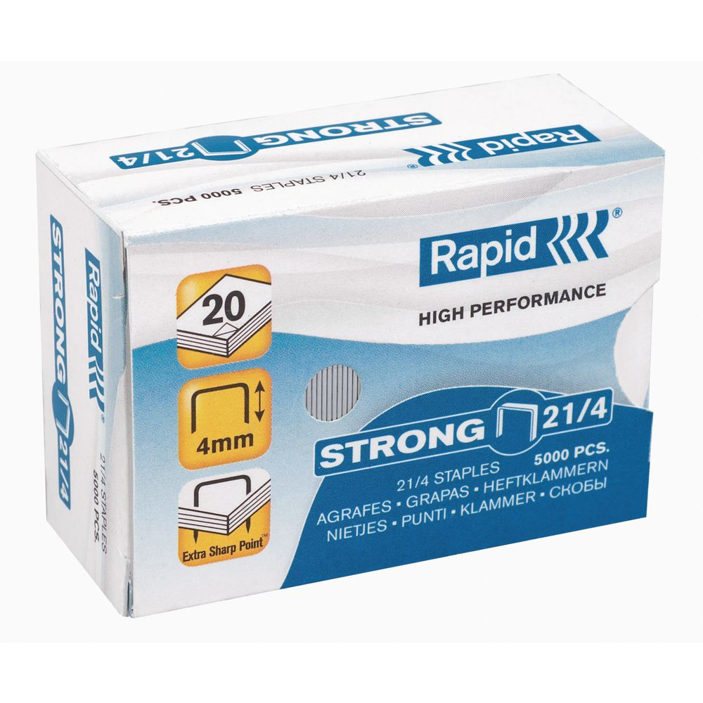 Agrafes Rapid 21/4 - Caixa 5000 Zinco