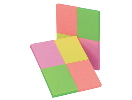 Blocos Aderentes Q-Connect KF10510 40x50mm - Pack 4 Cor Neon X 50fl
