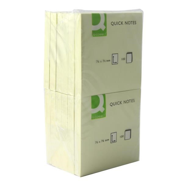 Blocos Aderentes Q-Connect KF10502 - 76x76mm 25941 - Pack 12