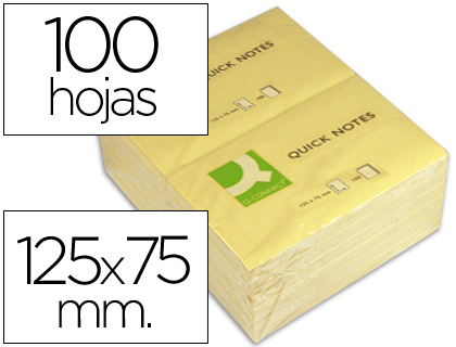 Blocos Aderentes Q-Connect KF10503 - 75x125mm 25942 - Pack 12