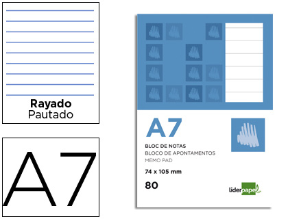 BLOCOS APONTAMENTOS A7