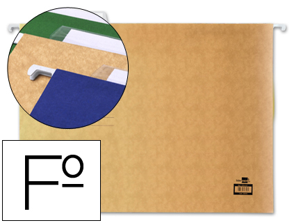 BOLSAS SUSPENSAS FOLIO 36.5CM - 180GR REF.SF01 CREME CX C/50 (26905)