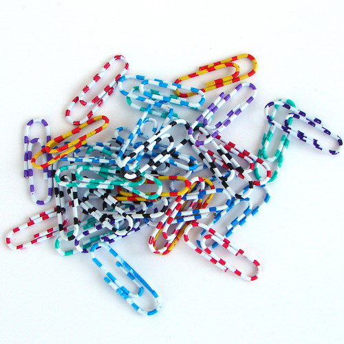 CLIPS Nº.2 PLASTICO CORES ZEBRA KF02024 - 28mm 28727 CX C/100