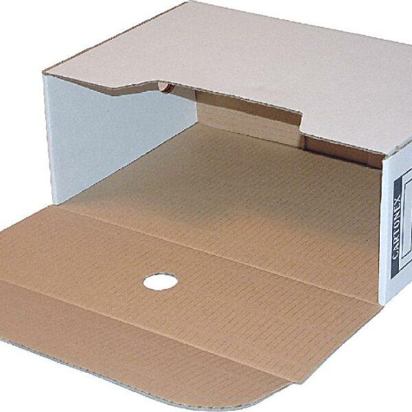 Caixas Arquivo Morto Cart.365x245x140 Branco REF.3002 Lombada 14cm