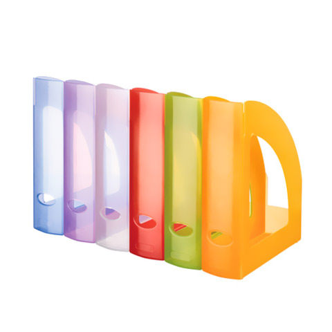 Classif. Plastico Porta Revistas 320x240x80 Cores Translucidas