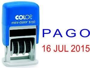 DATADOR BORRACHA COLOP MINIDATER S160/L AUTO TINT. - PAGO