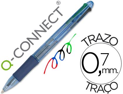 Esferograficas Q-Connect KF01938 - 38017  4 Cores