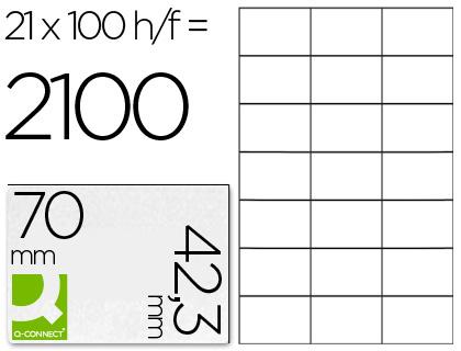ETIQUETAS Q-CONNECT INKJET/LASER KF10649 - A4 CX100FL 70X42.3 /21