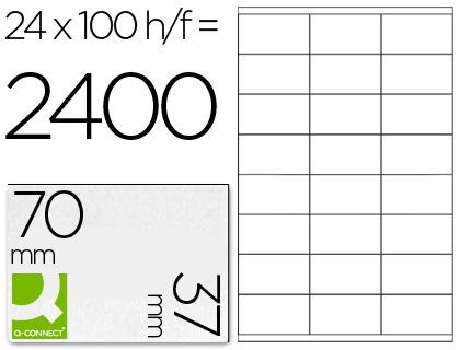 ETIQUETAS Q-CONNECT INKJET/LASER KF10647 - A4 CX100FL 70X37  /24