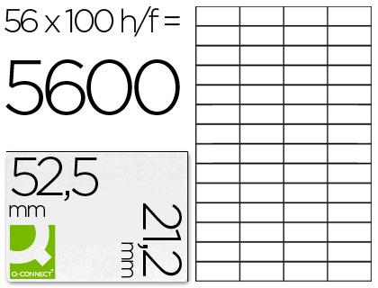 ETIQUETAS Q-CONNECT INKJET/LASER KF10638 - A4 CX100FL 52,5X21,2  /56
