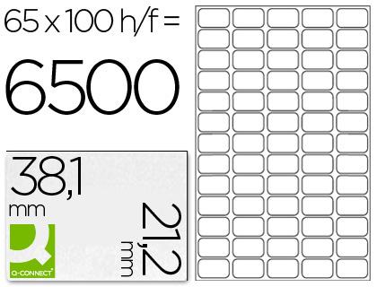 ETIQUETAS Q-CONNECT INKJET/LASER KF00573 - A4 CX100FL 38,1X21,2  /65 CANTO RED.