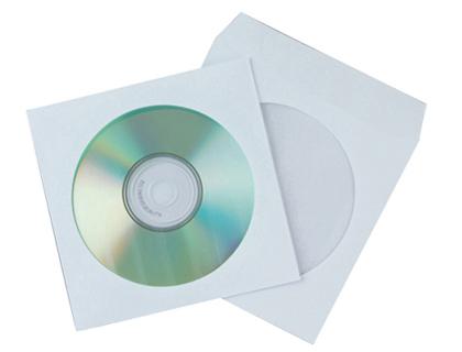 ENVELOPES P/CD 125X125 PAPEL BRANCO C/JANELA KF02206 C/50