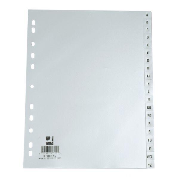 INDICES A/Z PLASTICO A4 - EK CINZA KF00325 - 32580
