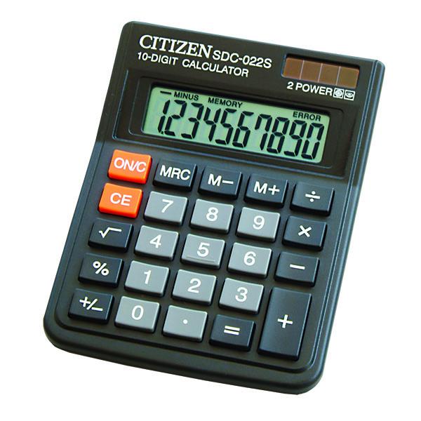MAQUINAS CALCULAR CITIZEN SDC-022SR 10 DIGITOS - 50395