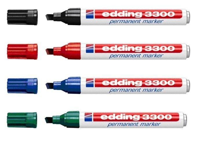 Marcadores Edding 3300 - Ponta Facetada Caixa 10