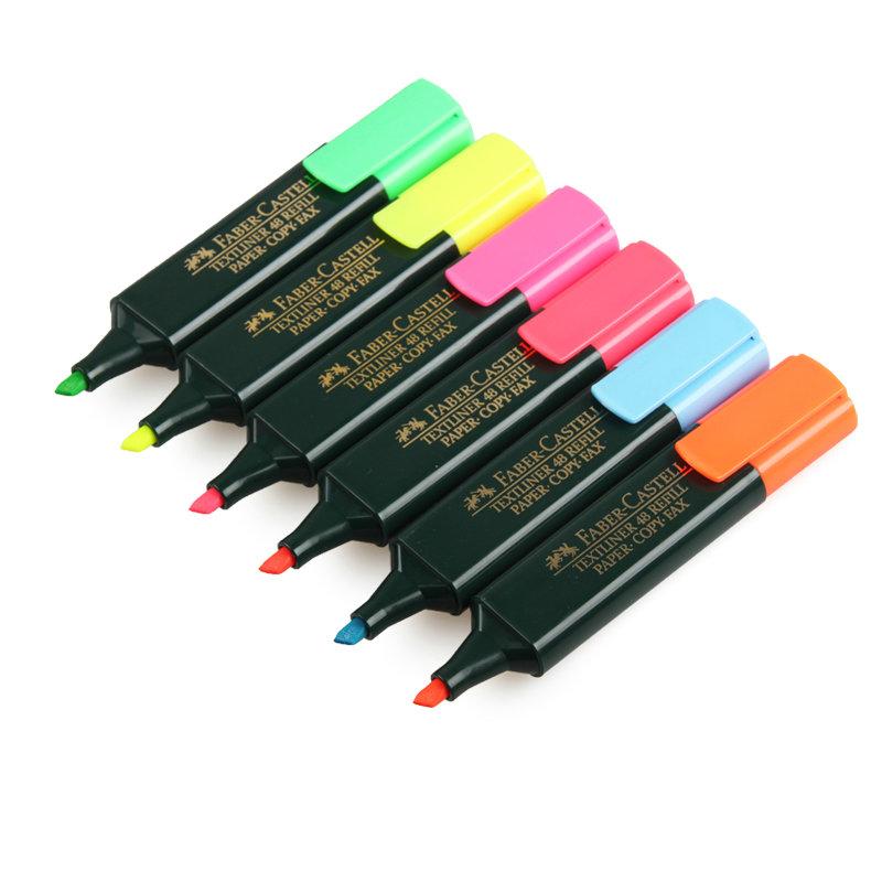 Marcadores Faber 48 Fluorescente