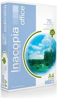 Papel A4 Inacopia Office 75gr Ecologico Caixa 5x500fl