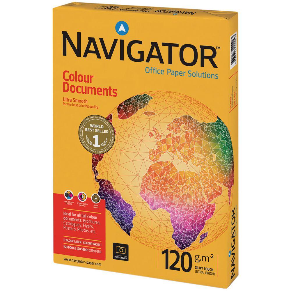 Papel A3 Navigator Silky Touch 120gr Resma 500fl