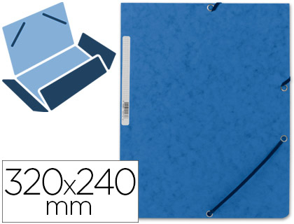 PASTAS CARTAO A4 LOMB.15mm 3 ABAS C/ELASTICO