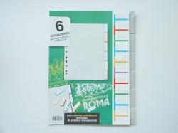 Separadores Plast. Roma 247 - C/6 Cinza Pestana Substituivel