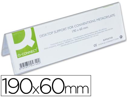 Suporte Metacrilico Identificador Secretaria KF04740 - 190x60mm  39937