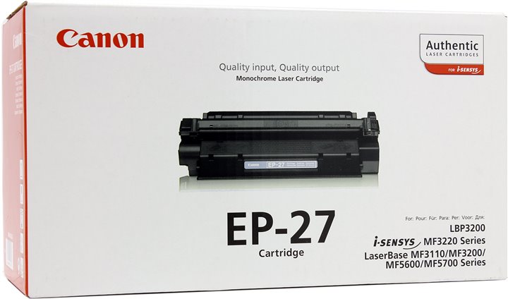 TONER CANON EP27 - MF3110/MF5630/MF5650/LBP3200