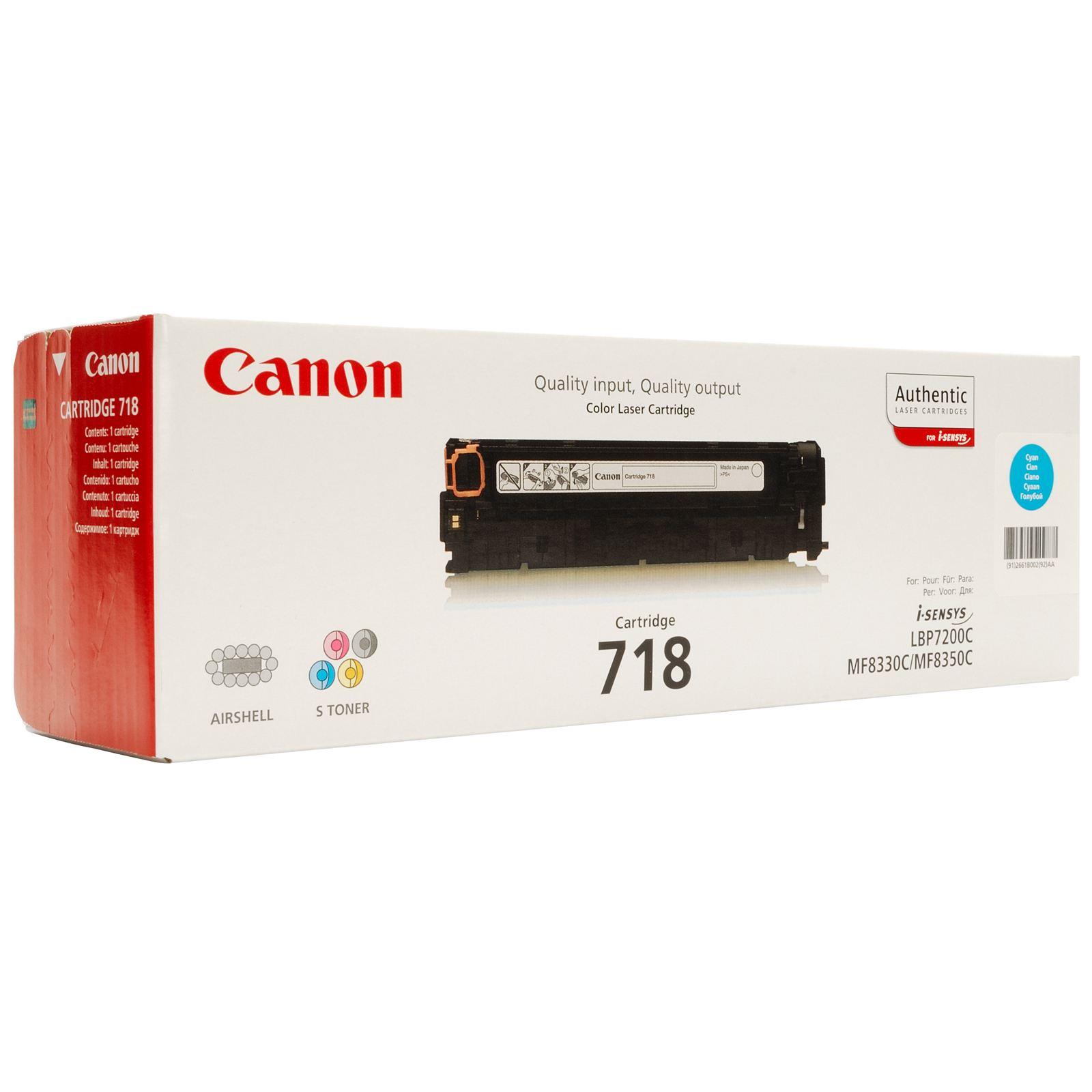 TONER CANON 718C - MF8350c/8330/LBP7660 AZUL