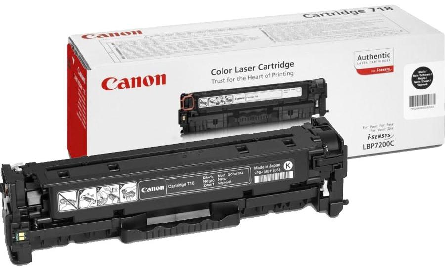 TONER CANON 718BK - LBP7200C/7660C/MF8330C/8340C PRETO 3.4K