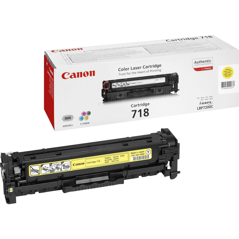 TONER CANON 718Y - MF8350c/8330/LBP7660 AMARELO