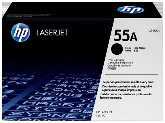 TONER HP CE255A - P3015 PRETO Nº55A - 6000pg