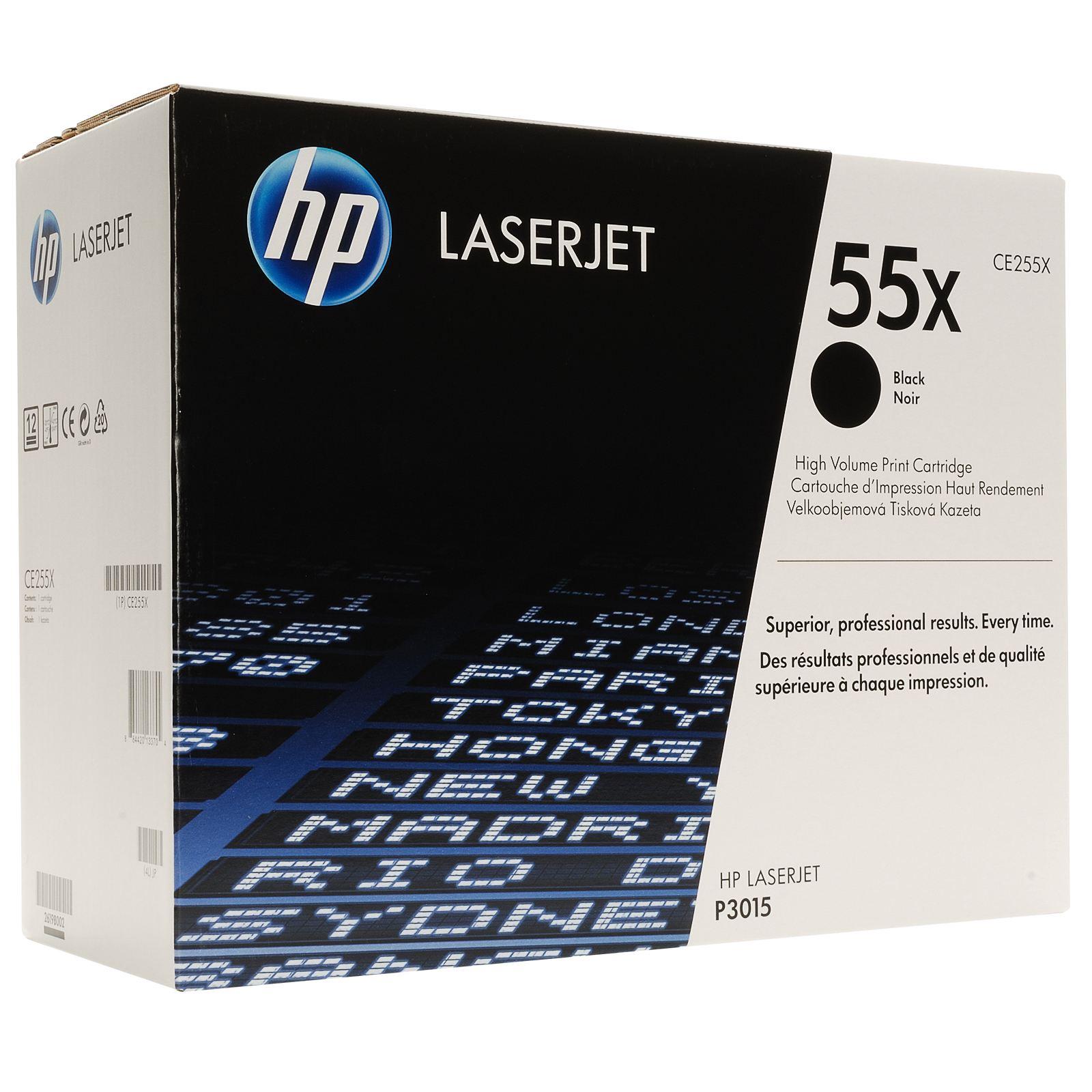 TONER HP CE255X - P3015/3010 PRETO Nº55X  12500pg