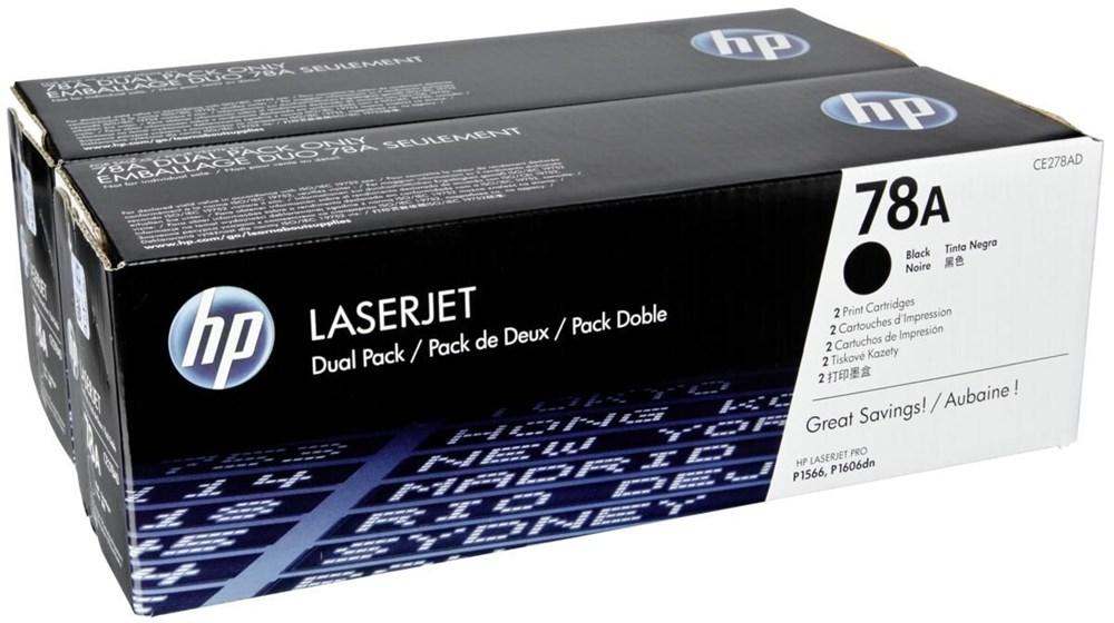 TONER HP CE278AD - P1566/1606 PRETO Nº78A - PACK 2 (CE278A) 4200pg