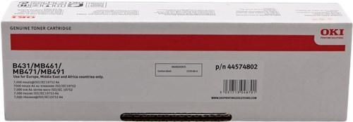 TONER OKI 44574802 - B431/MB461/MB471 - ALTA CAP.7K
