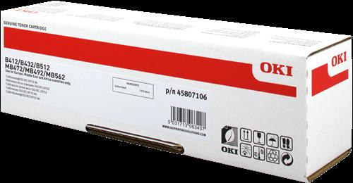 TONER OKI 45807106 - B412/432/512/MB472/492/562 ALTA CAP.7K