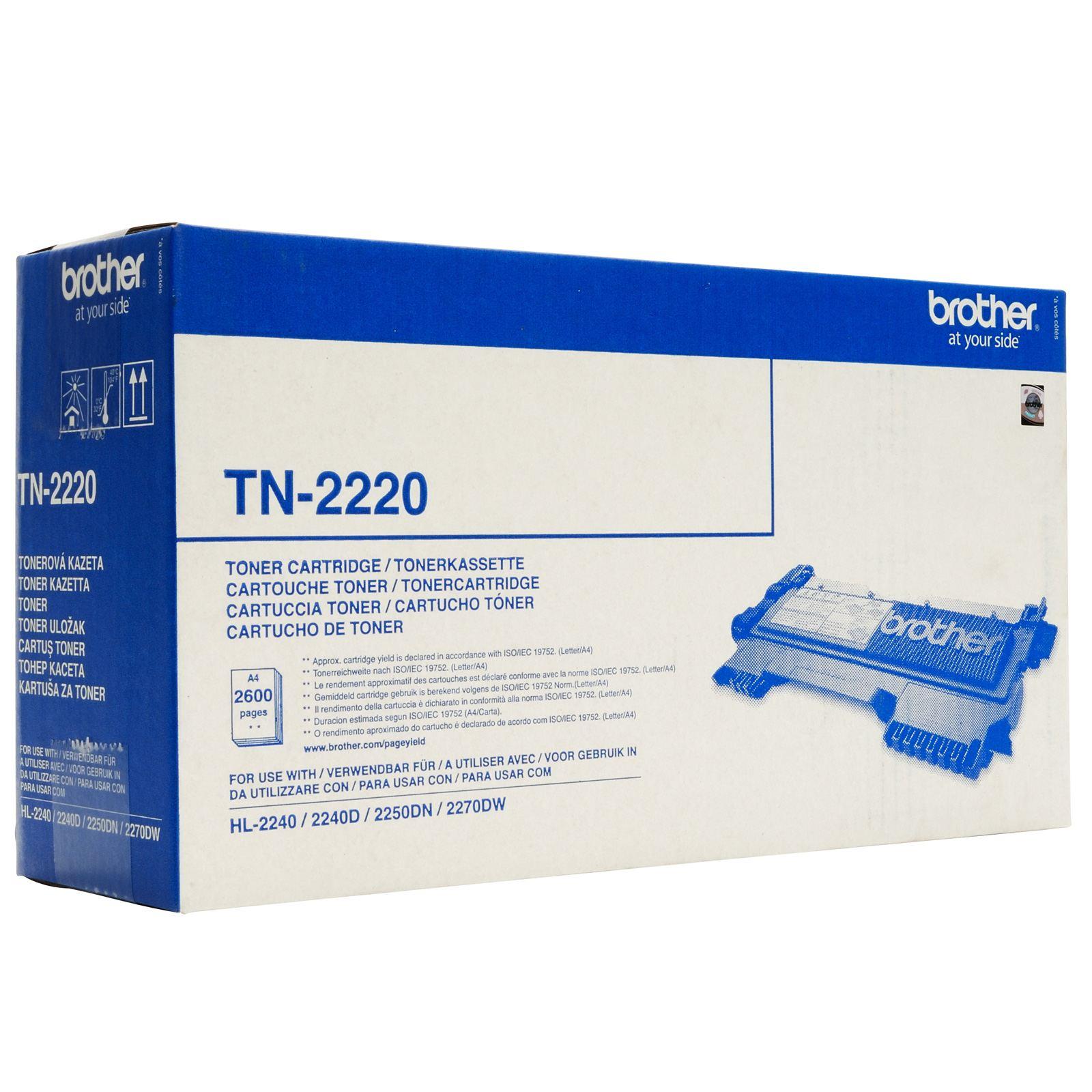 TONER BROTHER TN2220 - HL2240/2250/DCP7060/MFC7360N (2600pg*)