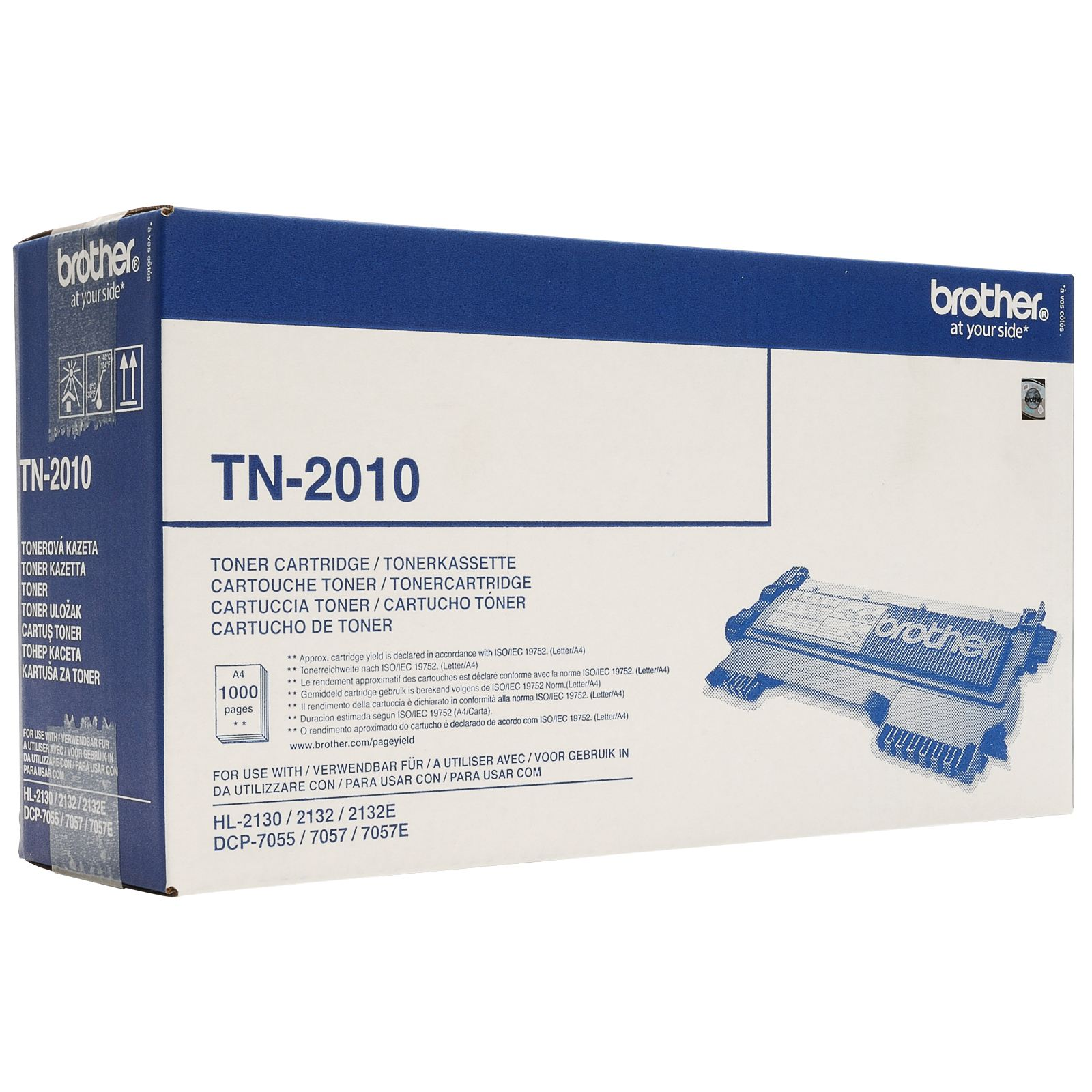 TONER BROTHER TN2010 - DCP7055/HL2130/HL2135W (1000pg)