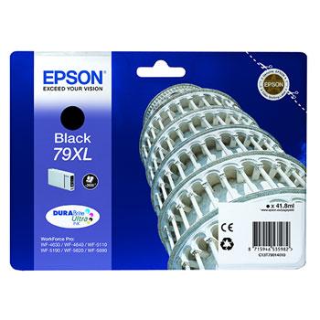TINTEIROS EPSON C13T79014010 - PRETO ALTA CAP. 79XL