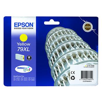 TINTEIROS EPSON C13T79044010 - AMARELO ALTA CAP. 79XL