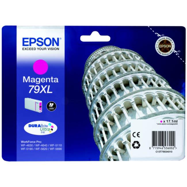 TINTEIROS EPSON C13T79034010 - MAGENTA ALTA CAP. 79XL