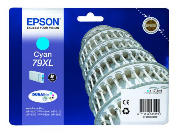 TINTEIROS EPSON C13T79024010 - AZUL ALTA CAP. 79XL