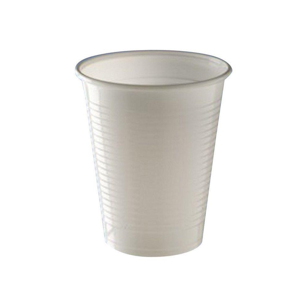 Copos Plastico Branco 200cc (Agua) Pack 50