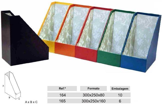 Classif. Cartao Porta Revistas 300x250x160 - 16cm Ref.165