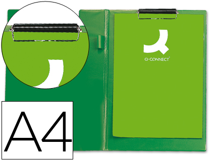 PRANCHETA PLASTICO PORTA NOTAS A4 COM CAPA KF01303 VERDE 26154