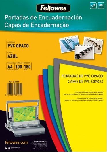 ACETATOS CAPAS ENCADERNAR PVC OPACO COR A4 C/100 - 180MIC