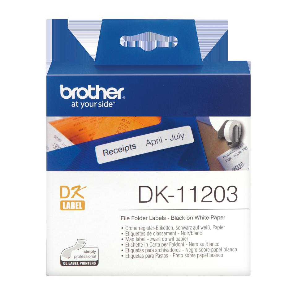 ETIQUETAS BROTHER DK-11203 - 17X87 300uni