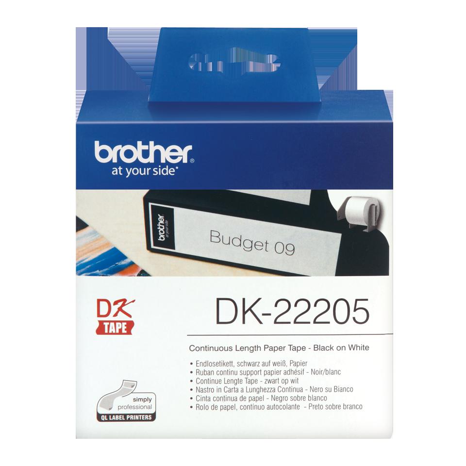 ETIQUETAS BROTHER DK-22205 - PAPEL CONTINUO AUTOC.BRANCO 62mmx30,48mt