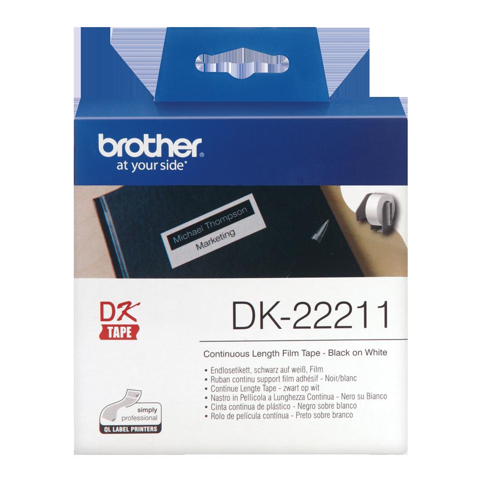 ETIQUETAS BROTHER DK-22211 - PELICULA CONTINUA BRANCA 29mmX15,24mt