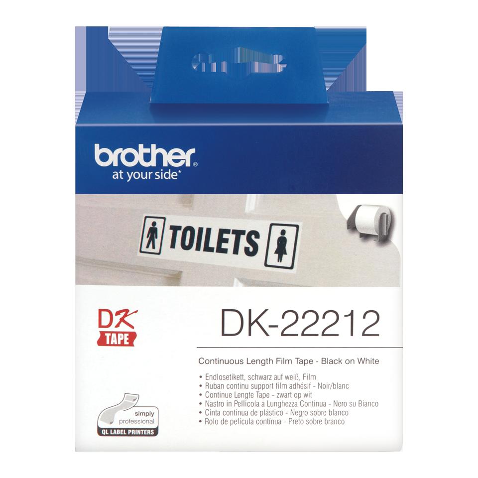 ETIQUETAS BROTHER DK-22212 - PELICULA CONTINUA BRANCA 62mmX15,24m