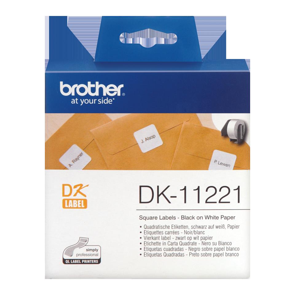 ETIQUETAS BROTHER DK-11221 - 23X23 1000uni