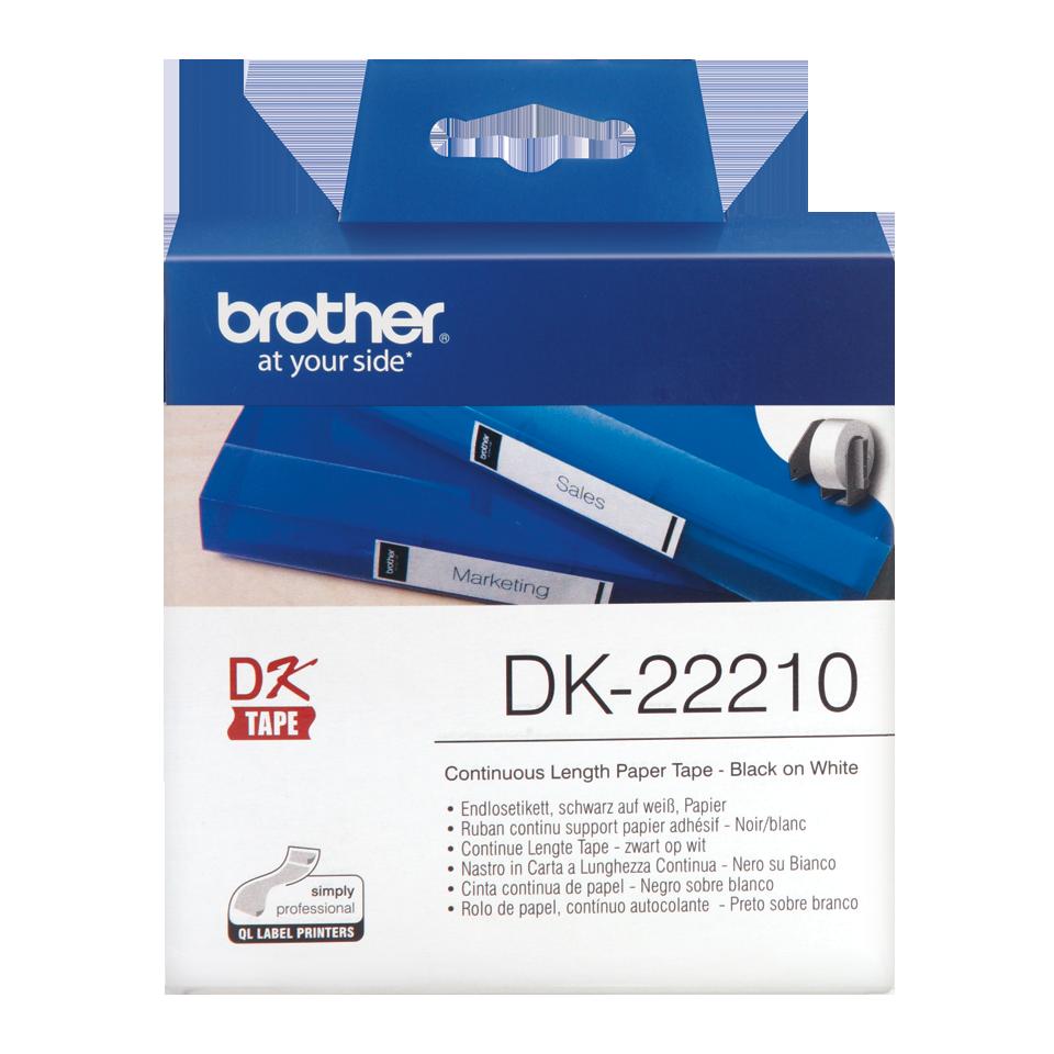 ETIQUETAS BROTHER DK-22210 - PAPEL CONTINUO BRANCO 29mmX30,48mt